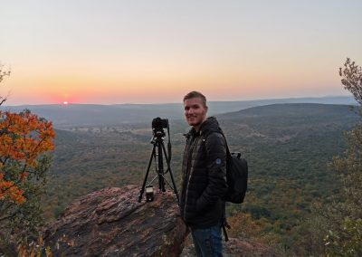 Shooting a sunset at Lindani Lodges in the Waterberg Biosphere