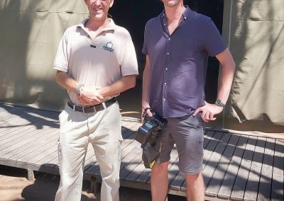 Having a laugh with Darryll, Tented Adventures (Pilanesberg, Kruger National Park).