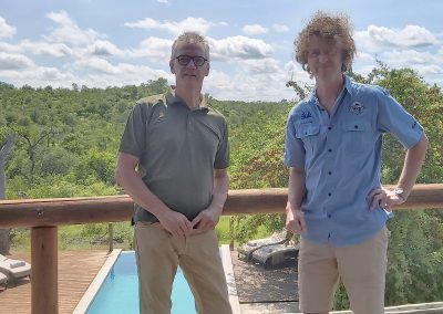 With Loek Bleeker, owner of Lengau Lodge, one of many Europeans with a love for the bush who have planted their roots on the African sub-continent.